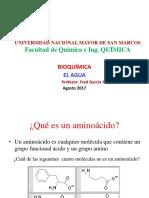 2017 II Bioquímica Aminoácidos Unmsm