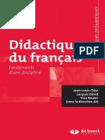 Chiss, J. L., David, J. y Reuter, Y. (----) Didactique Du Francais