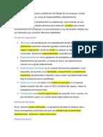Formas de Organización y Distribución Del Trabajo de Una Empresa