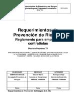 Requerimientos de PR