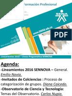 Presentacion - Lineamientos- Sennova 2016