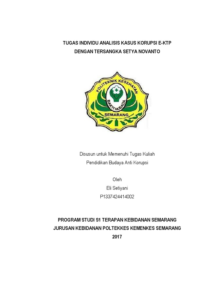 Makalah Kasus Korupsi E Ktp Setya Novanto