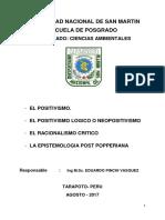 Trabajo Final Nº 1  EL POSITIVISMO LOGICO
