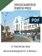 TUMORES OVARICOS CAUSANTES DE PSEUDOPUBERTAD PRECOZ
