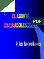 EL ABORTO EN LA ADOLESCENTE