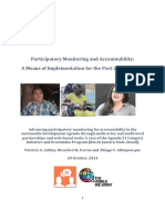 Advancing participatory monitoring for accountability in sustainable development agenda through multi-actor and multi-level partnerships and web based tools