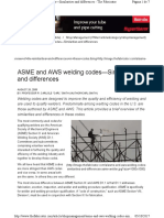 ASME & AWS Welding Codes-similarities and Differences