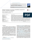 3. Strategic Perspectives of Corporate Sustainability Management To