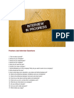 Freshers Job Interview Questions (2)