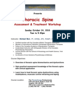Thoracic Spine Oct 24 2010 Course Registration