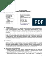 Sílabo de Derecho Del Comercio Internacional