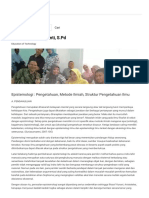 Epistemologi _ Pengetahuan, Metode Ilmiah, Struktur Pengetahuan Ilmu _ Dwi Citra Nurhariyanti, S.pd