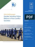 Gender Sensitive Police Reform Policy Brief 2007
