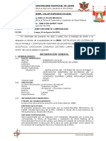 Informe Nº 002 Compatibilidad de Obra