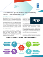 Collaborative Capacity in Public Service Delivery - Towards a Framework for Practice