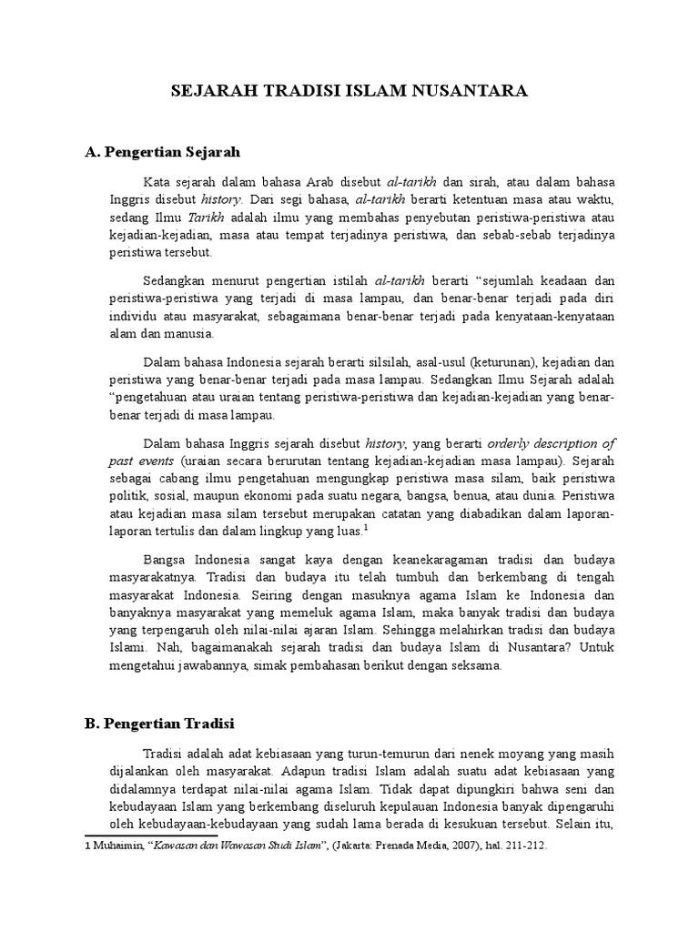 Sejarah Tradisi Islam Nusantara
