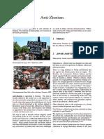 Anti Zionism