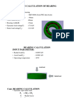 Design Calculation of Bearing