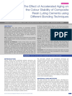 The Effect of Accelerated Aging on the Colour Stability of Composite Resin Luting Cements Using Different Bonding Techniques