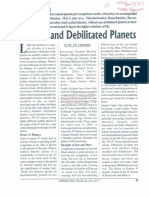Exalted and Debilitated Planets
