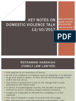Key Notes on Domestic Violence Talk