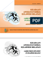 Keadaan Angkatan Kerja Sulawesi Selatan Agustus 2015