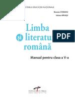 Manual clasa a V a LIMBA ȘI LITERATURA ROMÂNĂ Editura CD Press