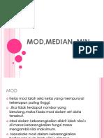 1- Asgment Mod,Median, Min