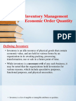 Inventory Management EOQ Final