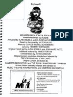 Les Miserables - School English - Keyboard 1