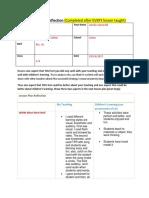 shjwc lesson reflection letter dd