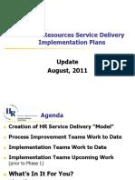 HR Svc Delivery Model Imp Plan Slides Update 0811