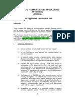 EWURA Tariff Application Guidelines of 2009