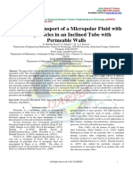 Peristaltic Transport of a Micropolar Fluid With