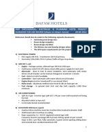 Mep Specs for Dafam Hotels 100 Room Hotel