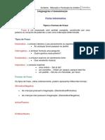 Tipos e Formas de Frases -