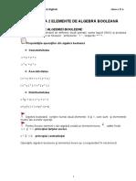 Elemente de Algebra Booleana