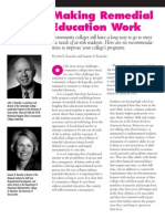 Making 'Remedial' Education work