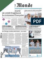 Le Monde Mercredi 16 Novembre 2011