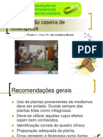 Manipulação Caseira de Fitoterápicos. Módulo 5 Farm. Ms. Ana Cimbleris Alkmim