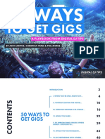 50 Ways To Get Gigs as DJ