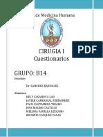 cuestionario PROCEDIMIENTOS TORACICOS