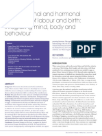 The Emotional and Hormonal Pathways of Labor