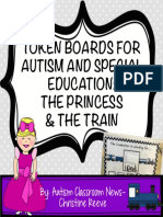 Token Boards the Princess and the Train Autism