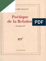 Poetique de La Relation