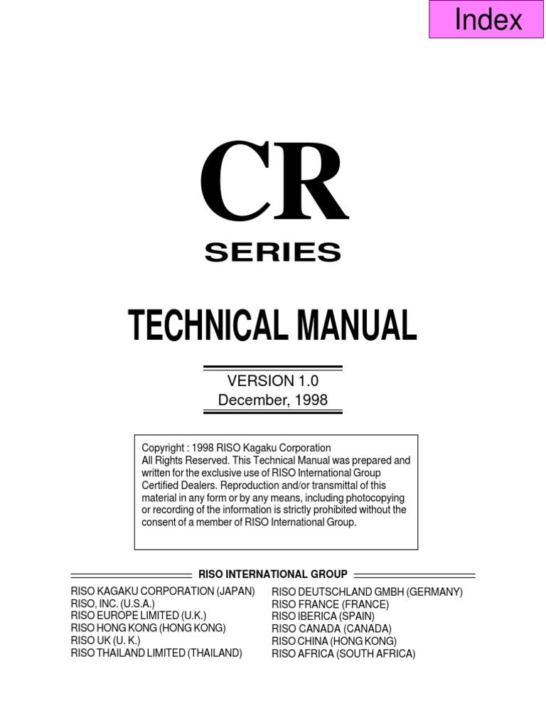 riso cr1630 technical manual pdf image scanner electrical connector rh pt scribd com Riso Copier riso ez 220 u service manual