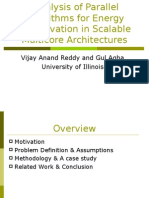 Energy Scalability Under Iso Performance Analysis of Parallel Algorithms