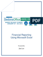 2014 SOUC Financial Reporting Using Excel