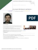 Mise en Place d'Un Cluster Nlb (Network Load Balancing) _ SUPINFO, École Supérieure d'Informatique