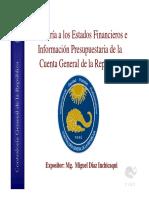 Auditoría a Los Estados Financieros e Información Presupuestaria de La Cuenta General de La República